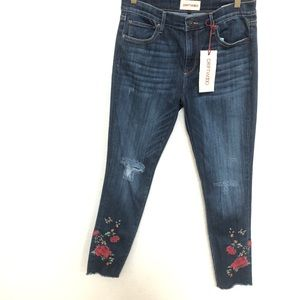 DRIFTWOOD Jackie Floral Embroidered Jeans sz 29